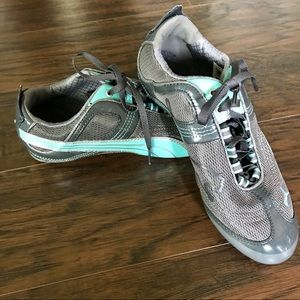 Puma Eco Ortholite Running Shoes Teal Gray New 6